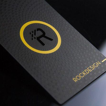 luxury metal visiting cards